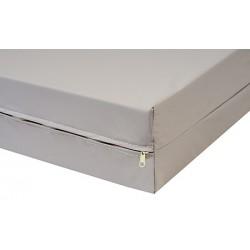 Housse de matelas polyuréthane imperméable M1 zip acier Lumière ép 15 cm 140x200 cm