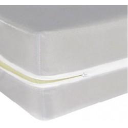 Housse de matelas ép 13 cm polyester polypropylène ignifugé 140x200 cm