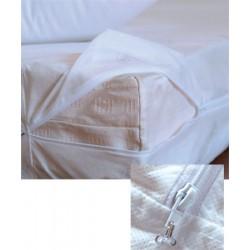 Lot de 12 housses de matelas anti-punaises de lit 80x190+15 cm