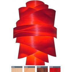 Applique en bois rouge Skin décor 9 feuilles H 86 cm