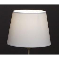 Abat-jour conique E27 tissu lavable silk blanc 30x23x17 cm