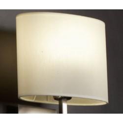 Abat-jour ovale droit E27 tissu lavable silk blanc 50x24x25 cm