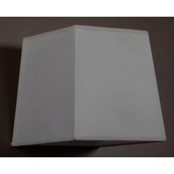 Abat-jour pyramidal carré E27 tissu lavable silk blanc 35X35x30X30x35 cm