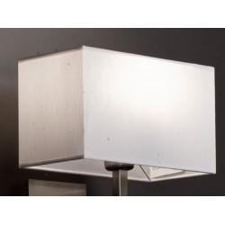 Abat-jour rectangle plat E27 tissu lavable silk blanc 25x13x15 cm