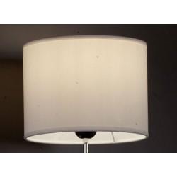 Abat-jour cylindre E27 tissu lavable silk blanc 20x20x15 cm