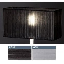 Abat-jour rectangle plat E27 tissu organza 50x20x25 cm