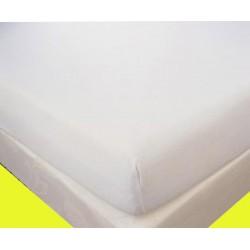 Alèze Antilles maille polyester enduite Pvc M1 blanc 280gr forme drap housse 80x190 cm