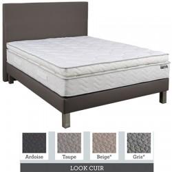 Tête de lit finition lisse tissu premium ou similicuir L160xH115 cm