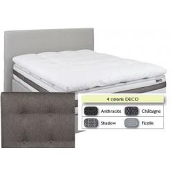 Tête de lit finition capitonnée déco L140xH115 cm