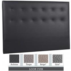 Tête de lit finition capitonnée tissu premium ou similicuir L140xH115 cm