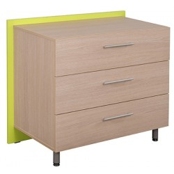 Commode 3 tiroirs Futur 100x53,7x88,5 cm