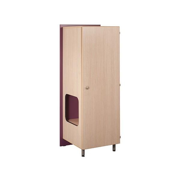 Armoire 1 porte 1/2 penderie + niche à droite Futur 68x60x185 cm