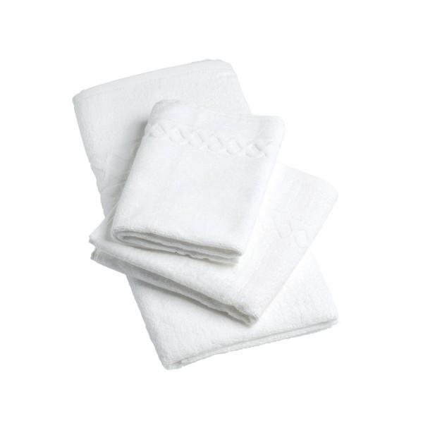 Lot de 240 serviettes invités fil retors 420g