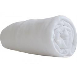 Drap housse jersey 100% coton blanc 50 x 100 cm