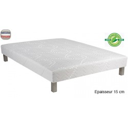 Sommier Orion 15 à lattes souples finition tissu stretch anti-punaises 90 x 190 cm