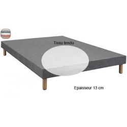Sommier Sauzon lattes passives ép 13 cm tissu tendu 160 x 200 cm