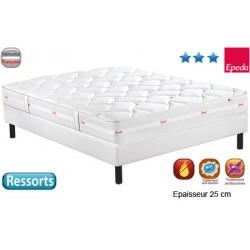 Matelas Confort 1500 ressort multispire multizones 25 cm 80x200 cm