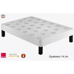 Sommier tapissier Luxury 140 lattes massives ép 14 cm 100x190 cm