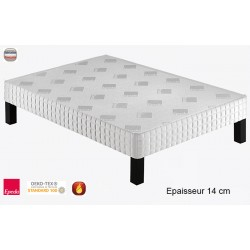 Sommier tapissier Luxury 140 lattes massives ép 14 cm 180x210 cm