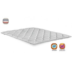 Surmatelas sweet stretch 100% polyester ép 6 cm maintien élastique 160x200 cm