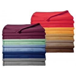 Lot de 10 couvertures polaire 350 g non feu 220 x 240 cm