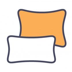 Lot de 75 taies d'oreillers jetables blanc 75x45 cm