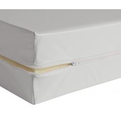 Housse de matelas blanche ép 12 cm polyuréthane M1 90x190 cm