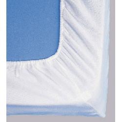 Protège matelas drap housse molleton coton enduit 170g 160x190 cm