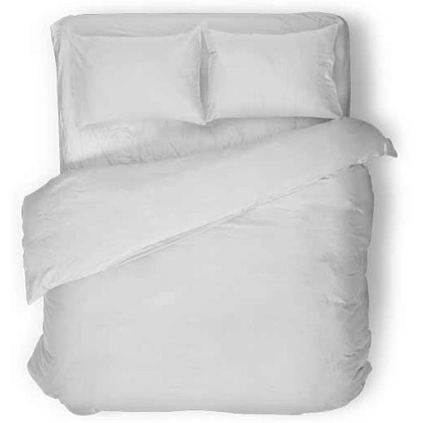 Drap plat percale de coton 240x300 cm blanc