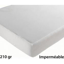 Lot de 6 protèges matelas drap housse imperméable coton et pu 210g 160x200 cm