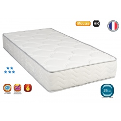 Matelas mousse HR 35 Estoril ép 25 cm 90x200cm