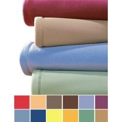 Lot de 10 couvertures unies  260x240 cm 100% polyester maille polaire non feu 320g
