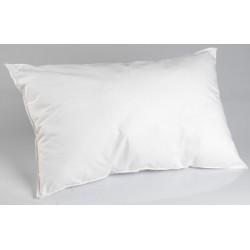 Lot de 20 oreillers 45x70 cm blanc 100% microfibre et fibre polyester 450g