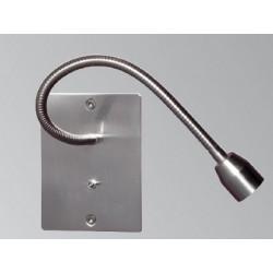 Liseuse encastre nickel Sat Flex 30 cm avec interrupteur