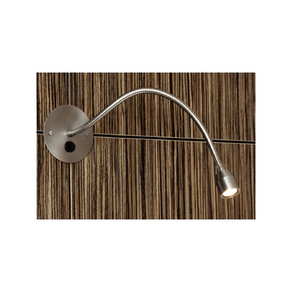 Applique liseuse Bed Light nickel brossé flex 30 cm