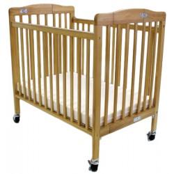 Lit bébé en bois à monter L101xP67xH102 cm hêtre naturel