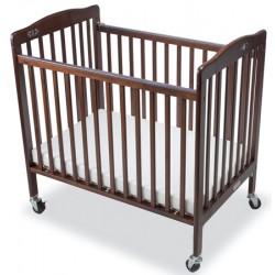Lit bébé en bois à monter L101xP67xH102 cm acajou