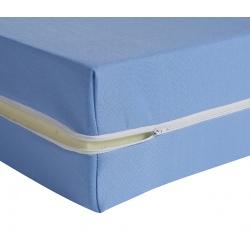 Housse de matelas ép 13 cm polyester M1 bleu 140x190 cm