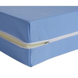 Housse de matelas ép 15 cm polyester M1 bleu 140x200 cm