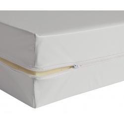 Housse de matelas blanche ép 13 cm polyuréthane M1 80x200 cm