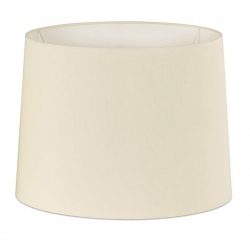 Abat-jour en textile beige Ø21,5x16 cm