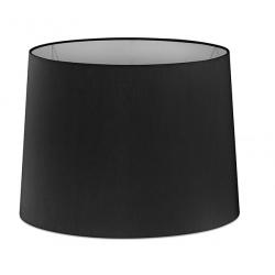 Abat-jour en textile noir Ø21,5x16 cm