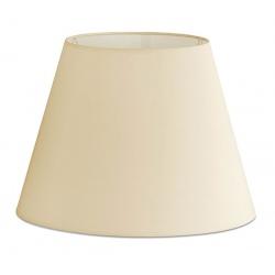 Abat-jour en textile beige Ø22x16 cm