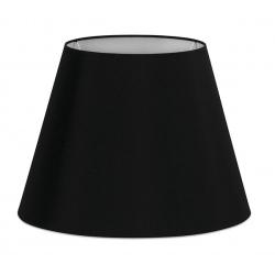 Abat-jour en textile noir Ø22x16 cm
