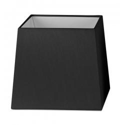 Abat-jour en textile noir L19xH17 cm