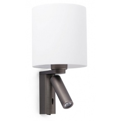 Lampe applique Rob bronze avec liseuse