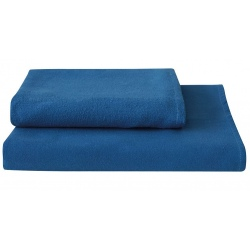 Lot de 50 Serviettes lavable eco microfibre bleu 40x90 cm
