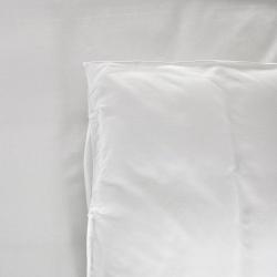 Taie d'oreiller Be Eco i-care polycoton 50/50 blanc 130 g portefeuille avec rabat et volant piqué 65x65 cm (le lot de 10)