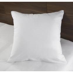 Taie d'oreiller Tradition polycoton 74/26 blanc 130 g portefeuille avec rabat 65x65 cm (le lot de 10)