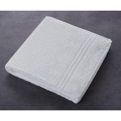 Serviette Boucle 90% coton 10% polyester blanc 380 g 50 x 90 cm (le lot de 10)